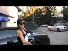 2009 Bentley GTC: Kim Kardashian Works Out At 3rd Street Dance.