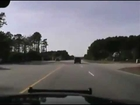 Wreckless Police chase ends in a crash and suspect fleeing In North Carolina Dash Cam