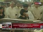 QRT: Cremation ng labi ni Sec. Robredo, ipinagpapatuloy