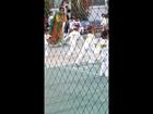 Jasim running in monkey race