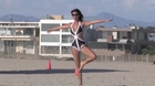 TOWIE Star Lucy Mecklenburgh Sports a Monochrome Bikini For an Outdoor Boxing Session