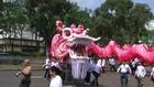 Human Mobile Stage 69B, 中外周彪舞动过万尺雄龙New World Record of Longest Dragon, Dragon Dance